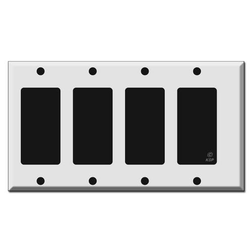 Narrow 4 Decora Rocker Light Switch Wall Plate Covers
