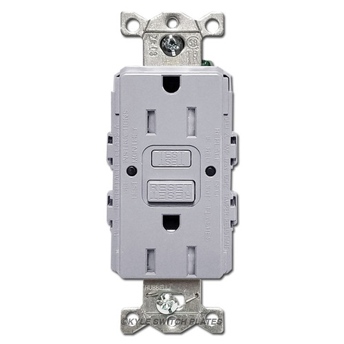 Gray Ground Fault Outlets Tamper Resistant 15A