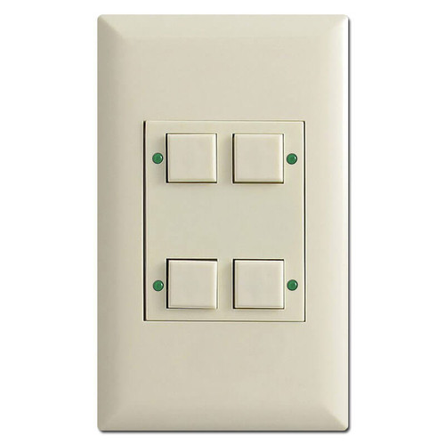 Touchplate Classic Low Voltage 4 LED Pilot Switch - Almond