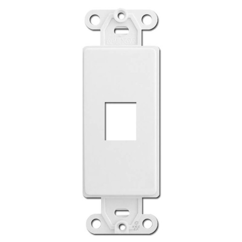 Leviton White 1 Port Frames for Modular Jack Adapters