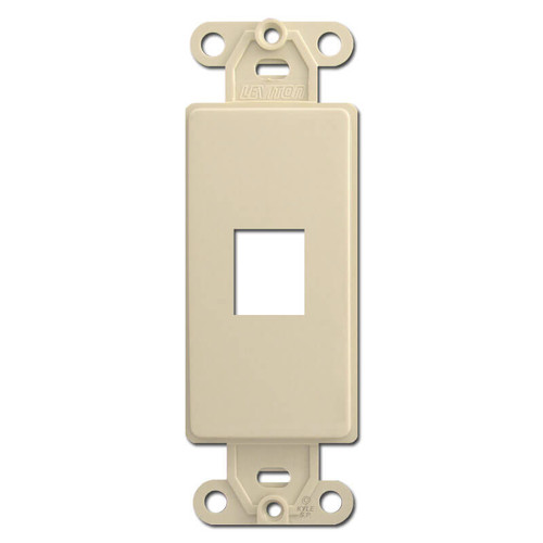 Leviton Ivory 1 Port Frames for Modular Jack Adapters