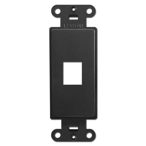 Leviton Black 1 Port Frames for Modular Jack Adapters