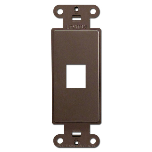 Leviton Brown 1 Port Frames for Modular Jack Adapters
