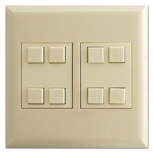 8 Button Classic Touchplate Low Voltage Switch - Ivory