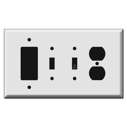 Oversized 1 Duplex Outlet 2 Toggle 1 GFCI/Decora Switch Plates