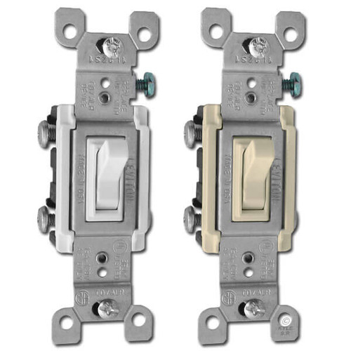 Co/Alr 3-Way Toggle Switch for Aluminum Wiring 15A Leviton 2653