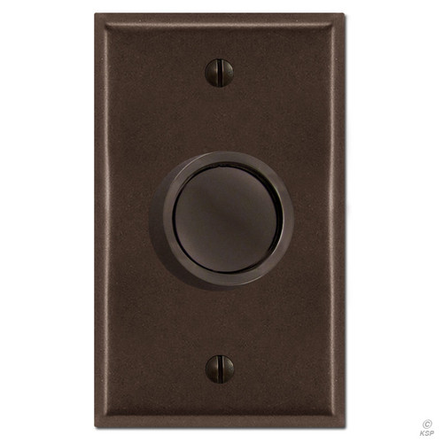 Brown Rotary Dimmer Knob & Plate Cover
