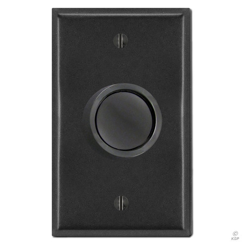 Black Rotary Dimmer Knob & Cover Plate