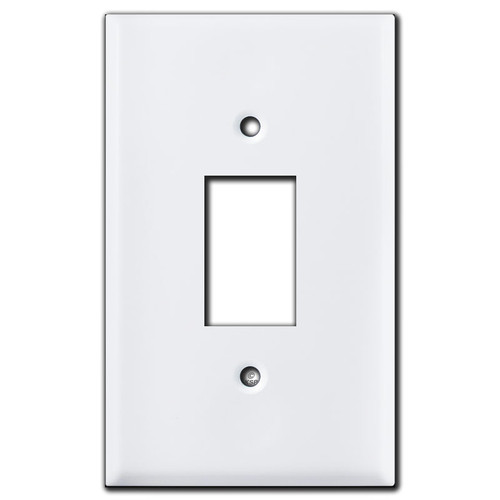 White Retracting Awning Wall Control Cover Plate