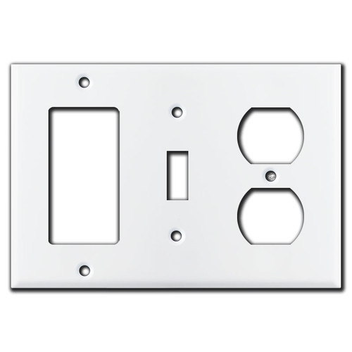 Decora Toggle Receptacle Light Switch Cover - White