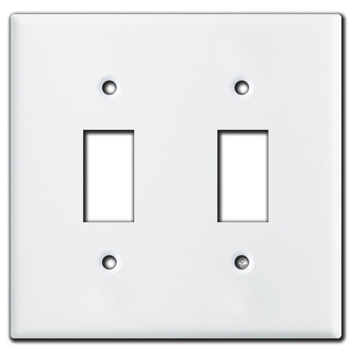 Somfy Extending Shade Double Switch Wall Plate Cover - White