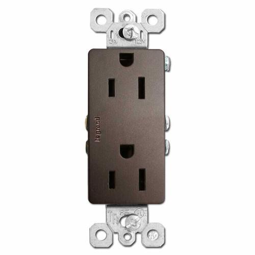 Dark Bronze Outlet Receptacle - Decor Tamper Resistant 15A