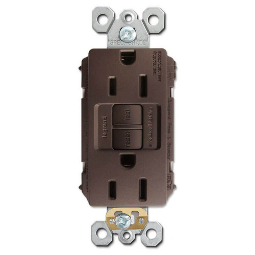Dark Bronze Ground Fault Outlet Tamper Resistant 15A