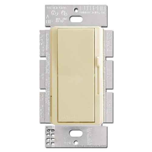 Ivory 3 Way Decorator Dimmer Switch - Preset & Light 600W