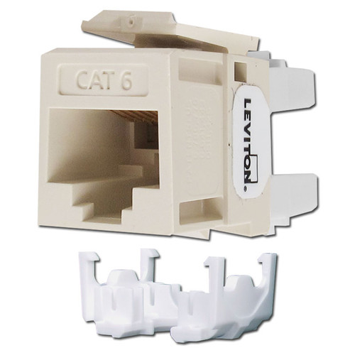Leviton Light Almond Cat6+ Ethernet QuickPort Jack