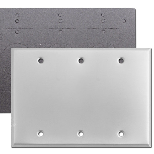 Weatherproof 3 Blank Switch Wallplate - Aluminum