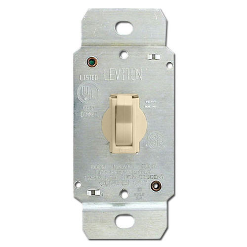 3-Way Toggle Dimming Light Switch - Ivory