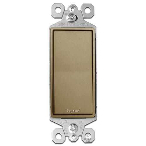 Antique Brass Light Switch - Decor Rocker 15A