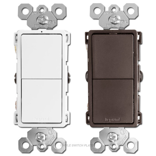 Stacked Rocker Light Switches Legrand RCD11