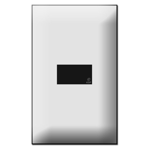 Touch-Plate 5000 Series 1 Button Low Voltage Switch Plates