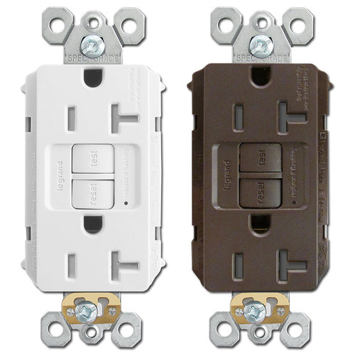 GFCI Electrical Outlets 20A Tamper Resistant P&S 2097TR