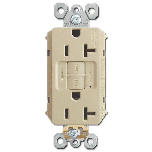 GFCI Switch Self-Test Outlet 20A - Ivory