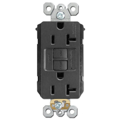 Electrical Outlet GFCI Self-Test 20A - Black