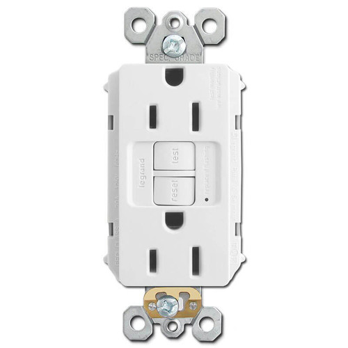 Ground Fault Receptacles GFCI Self Test 15A - White