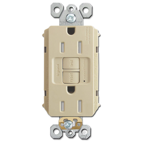 GFCI Socket Tamper Resistant Self Test 15A - Ivory