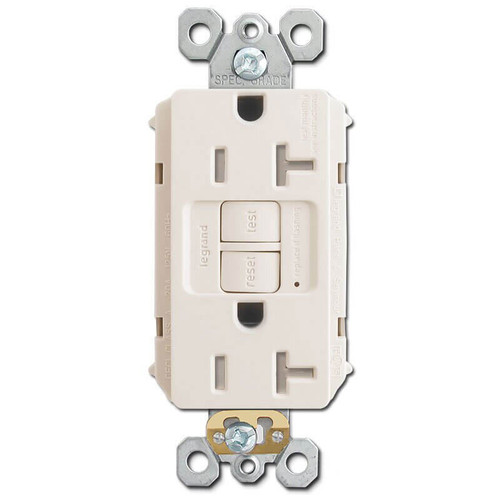 Electrical GFI Outlet TR Self Test 20A - Light Almond