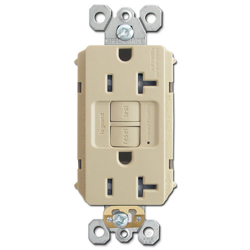 GFI Plug Safety Outlet TR Self Test 20A - Ivory