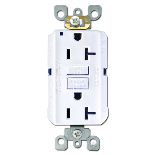 Decora GFI Receptacle 20A Self Test - White