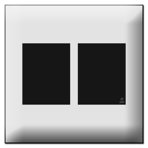 Touch Plate Classic 2 Gang Low Voltage Switch Plate