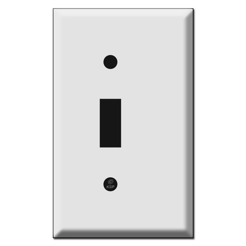 Half Narrow 1 Toggle Light Switch Cover Plates