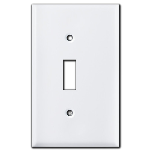 Shifted Toggle Cutout on White Switch Cover