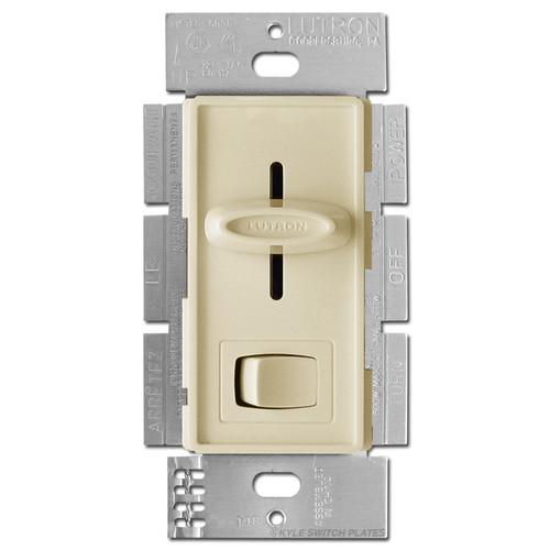 Ivory Slider Light Dimmer - On Off Button 600W