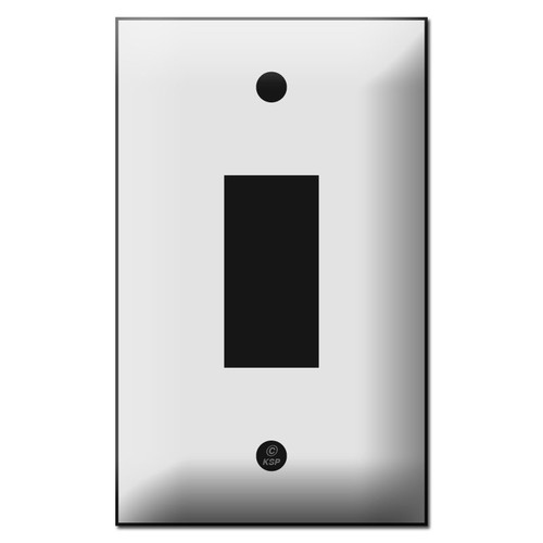 Touch Plate Genesis Series One Button Low Voltage Wall Switch Cover
