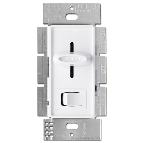 White 3-Way Slide Dimmers On-Off Button 600W
