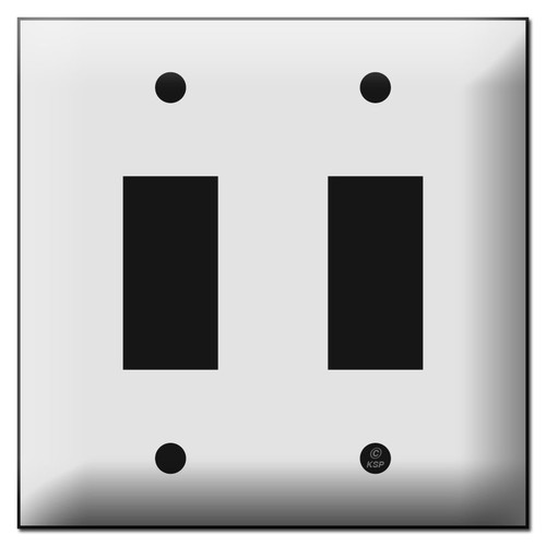Touchplate Genesis Low Voltage Switch Plates for Two Buttons