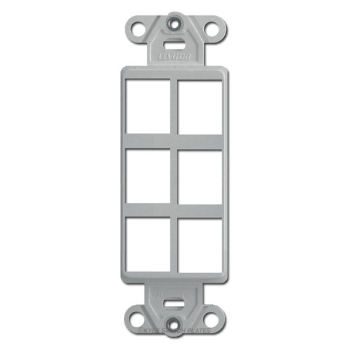 Modular 6-Jack Communication Frame Leviton - Gray