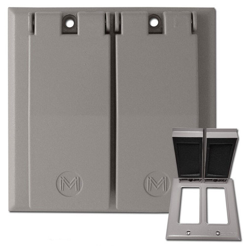 2 Decor Weatherproof Wall Plate Covers for Wet Locations