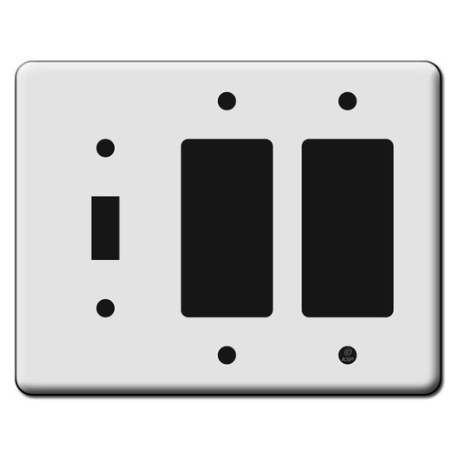 Tall 1 Toggle 2 Decora GFCI Switch Plate Covers