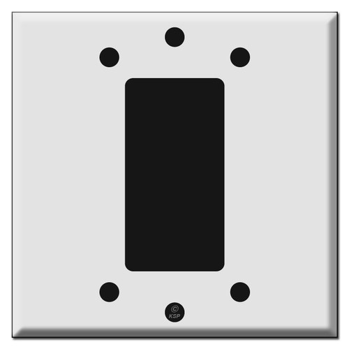 1 Decora Rocker Switch Covers 2-Gang Center Mount