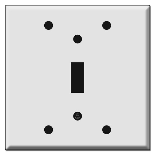 Box Mount 2-Gang 1 Toggle Light Switch Covers