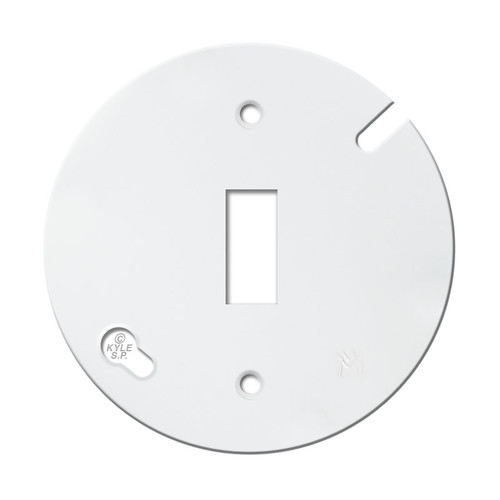 "3.5"" Round Toggle Light Switch Cover - White"