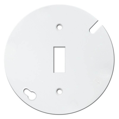 """Round 4"""" Toggle Switch Octagon Box Cover Plate - White"""