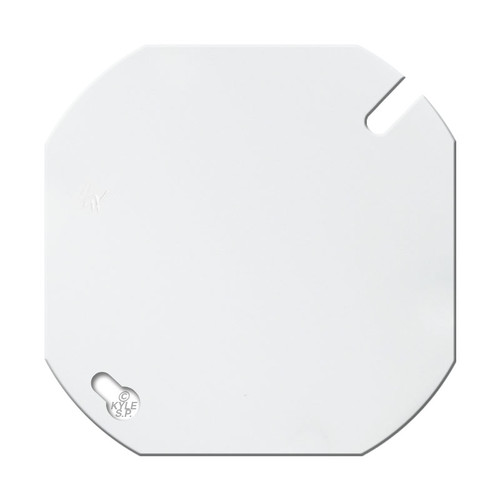 "4"" Round Blank Wall Plate Cover - White"