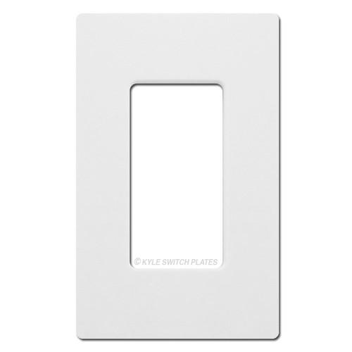 1 Rocker GFCI Screwless Wall Plate Lutron - White Plastic