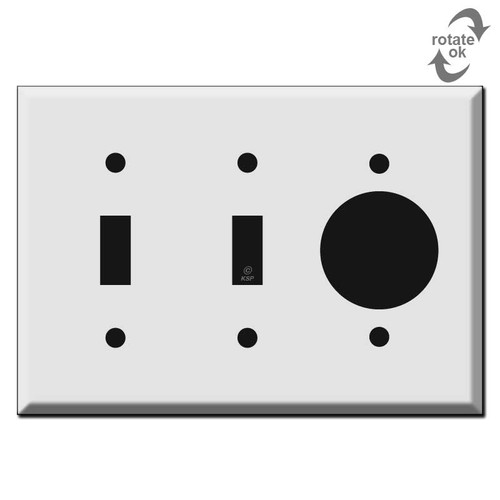 2 Toggle + 20A 30A TL Single Outlet Cover Plates