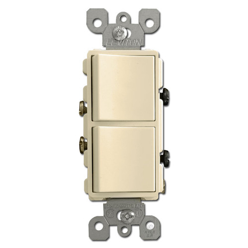 20A Ivory Decora Double Rocker Switch
